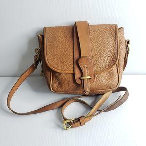 Dooney and Burke USA Tan Saddle Bag FLAW Small